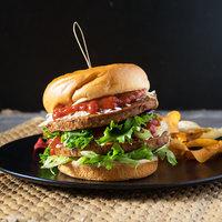 Gardein 4.2 oz. Black Bean Veggie Burger - 48/Case