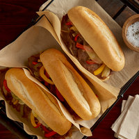 Amoroso's 10 inch Philadelphia Hearth-Baked Sliced Hoagie Rolls - 48/Case