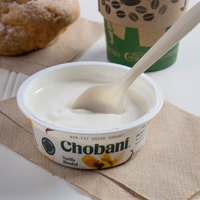 Chobani 4 oz. Vanilla Blended Non-Fat Greek Yogurt - 12/Case