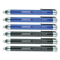 Universal UNV55106 Blue / Black Pen-Style Retractable Eraser   - 6/Pack