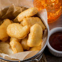 Pierce 5 lb. Tempura Battered Chicken Breast Nuggets - 2/Case