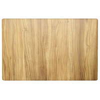 Grosfillex US48H726 32 inch x 48 inch Rectangular Chesnut Outdoor / Indoor HPL Compact Table Top