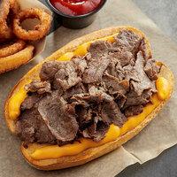 Original Philly Cheesesteak Co. 8 oz. Beef Sandwich Steaks - 20/Case