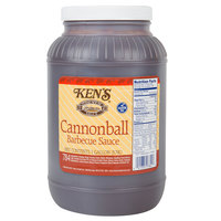 Ken's 1 Gallon Cannonball Barbecue Sauce - 4/Case