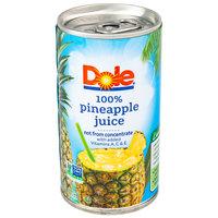 Dole 6 oz. Pineapple Juice - 48/Case