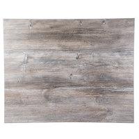 Grosfillex UT310245 24 inch x 32 inch Rectangular Vintage Pine Outdoor / Indoor HPL Compact Table Top