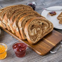European Bakers 35.3 oz Sliced Marble Rye Panini Bread Loaf -10/Case - 10/Case