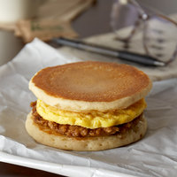 Jimmy Dean 4.9 oz. Sausage and Egg Maple Pancake Breakfast Sandwich - 12/Case
