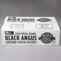 Farmland Foods Gold Medal 4 oz. Black Angus Burgers - 40/Case