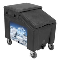 IRP 3100001 Black Ice Caddy 100 lb. Mobile Ice Bin with Custom Graphic