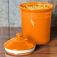 Homer Laughlin 573325 Fiesta Tangerine Large 3 Qt. Canister with Cover - 2/Case