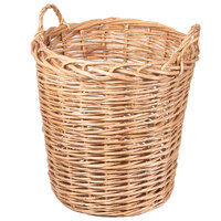 Natural Round Wicker Display Basket with Handles - 20 inch x 22 inch