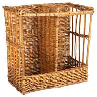 Natural Two Compartment Rectangular Wicker Display Basket - 21 inch x 10 inch x 21 inch