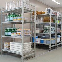 Cambro Camshelving Premium CPHU243675V4480 Mobile Shelving Unit with 4 Vented Shelves 24 inch x 36 inch x 75 inch