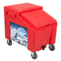 IRP 3100003 Red Ice Caddy 100 lb. Mobile Ice Bin with Custom Graphic