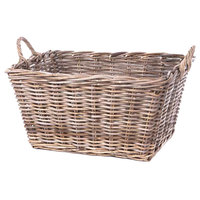 Ash Rectangular Wicker Display Basket with Handles - 23 inch x 17 inch x 12 inch