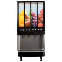 Bunn 37300.0080 JDF-4S 4 Flavor Cold Beverage Portion Control Juice Dispenser with LED Graphics - 120V