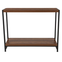 Flash Furniture NAN-JH-1747-GG Grove Hill 41 3/4 inch x 16 inch x 32 1/2 inch Rustic Wood 2 Level Console Table with Black Metal Legs