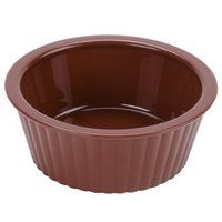 GET ER-402-BR 2 oz. Fluted Plastic Ramekin 12/Pack - Brown