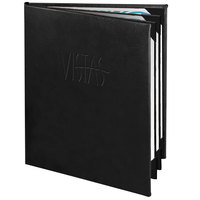 Menu Solutions CD960C Chadwick Collection 8 1/2 inch x 11 inch Customizable Leather-Like 6 View Booklet Menu Cover