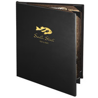 Menu Solutions CD940C Chadwick Collection 8 1/2 inch x 11 inch Customizable Leather-Like 4 View Booklet Menu Cover