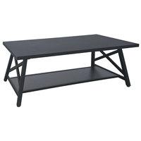 Flash Furniture NAN-JH-1795CT-GG Hancock Park 47 1/4 inch x 23 1/2 inch x 18 inch Rustic Espresso 2 Level Coffee Table