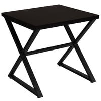Flash Furniture NAN-JH-1793ET-GG Larchmont 23 1/2 inch x 23 1/2 inch x 23 1/2 inch Espresso End Table with Metal Legs