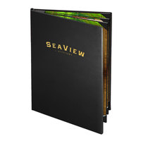 Menu Solutions CD960D Chadwick Collection 8 1/2 inch x 14 inch Customizable Leather-Like 6 View Booklet Menu Cover