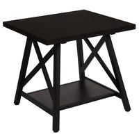 Flash Furniture NAN-JH-1795ET-GG Hancock Park 23 1/2 inch x 22 inch x 21 1/2 inch Rustic Espresso 2 Level Side Table