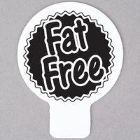 Deli Tag Topper - FAT FREE - Black
