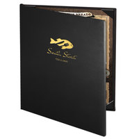 Menu Solutions CD920C Chadwick Collection 8 1/2 inch x 11 inch Customizable Leather-Like 2 View Booklet Menu Cover