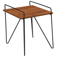 Flash Furniture NAN-JH-1792ST-GG Porter 18 inch x 19 inch x 19 inch Cherry Side Table with Black Metal Legs