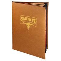 Menu Solutions BEL60D Bella Collection 8 1/2 inch x 14 inch Customizable Soft Leather-Like 6 View Booklet Menu Cover