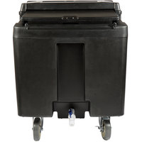 Cambro ICS125L110 SlidingLid Black Portable Ice Bin - 125 lb. Capacity