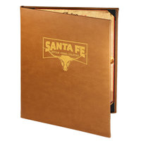 Menu Solutions BEL20C Bella Collection 8 1/2 inch x 11 inch Customizable Soft Leather-Like 2 View Booklet Menu Cover