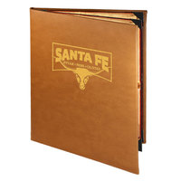 Menu Solutions BEL40C Bella Collection 8 1/2 inch x 11 inch Customizable Soft Leather-Like 4 View Booklet Menu Cover