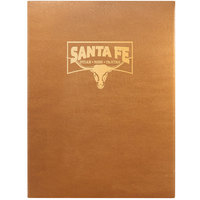 Menu Solutions BEL10C Bella Collection 8 1/2 inch x 11 inch Customizable Soft Leather-Like 1 View Booklet Menu Cover