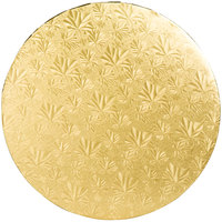 Enjay 1/2-14RG12 14 inch Fold-Under 1/2 inch Thick Gold Round Cake Drum