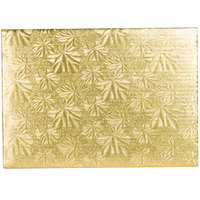 Enjay 1/4-9341334G12 13 3/4 inch x 9 3/4 inch Fold-Under 1/4 inch Thick 1/4 Sheet Gold Cake Board