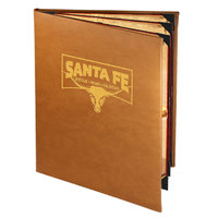 Menu Solutions BEL60C Bella Collection 8 1/2 inch x 11 inch Customizable Soft Leather-Like 6 View Booklet Menu Cover
