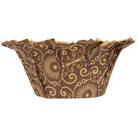 Enjay BC-MUFFIN-BROWNPTD35 2 inch x 1 1/2 inch Dark Brown Mariposa Muffin Baking Cup - 100/Pack
