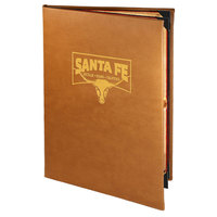 Menu Solutions BEL40D Bella Collection 8 1/2 inch x 14 inch Customizable Soft Leather-Like 4 View Booklet Menu Cover