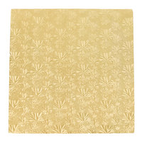 Enjay 1/2-16SG12 16 inch Fold-Under 1/2 inch Thick Gold Square Cake Drum