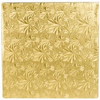 Enjay 1/2-10SG12 10 inch Fold-Under 1/2 inch Thick Gold Square Cake Drum