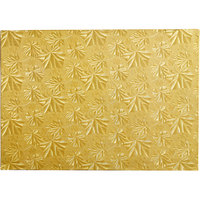 Enjay 1/2-9341334G12 13 3/4 inch x 9 3/4 Fold-Under 1/2 inch Thick 1/4 Gold Cake Board