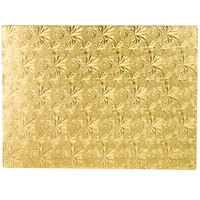Enjay 1/2-1331834G12 18 3/4 inch x 13 3/4 inch Fold-Under 1/2 inch Thick 1/2 Sheet Gold Cake Board