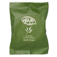 Eco Novo Terra 1.41 oz. Wrapped Glycerin Hotel and Motel Bath Soap Bar - 300/Case