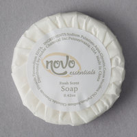 Novo Essentials 0.42 oz. Hotel and Motel Wrapped Round Bath Soap - 1000/Case