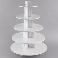 Enjay CS-5T-WHITE 5-Tier Disposable White Cupcake Treat Stand