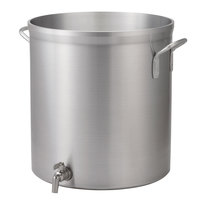 Vollrath 68691 Wear-Ever Classic Select 100 Qt. Heavy Duty Aluminum Stock Pot with Faucet